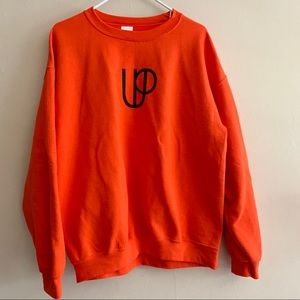 Orange cozy sweatshirt Useful Purpose line art L